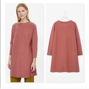 A-line Milano Sweater Dress in Dusty Pink COS